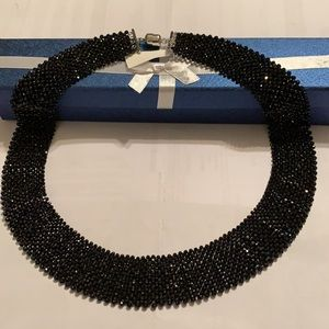 """BLACK SPINEL BEAD NECKLACE, SIZE 20""""L"""